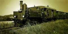 Zvláštní vlak s parní lokomotivou 310.0134 dne 19.7.2003 u Ktové. Foto Pavel Charousek (25)