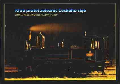 Parní lokomotiva 310.0134 v železniční stanici Turnov dne 6.8.2005. Foto Miloslav Nečas (30)