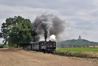 Parní lokomotiva 310.0134 v čele zvláštního vlaku u Sobotky dne 14.9.2008. Foto Miloslav Nečas (39)