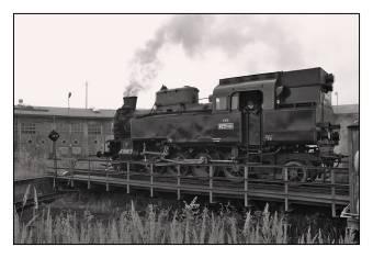 Parní lokomotiva 423.0145 na točně v depu Turnov dne 27.10.2008. Foto Miloslav Nečas (42)